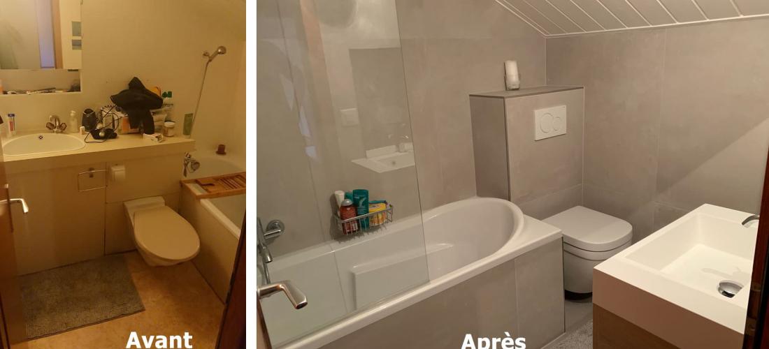 Rénovation salle de bain – novembre 2020